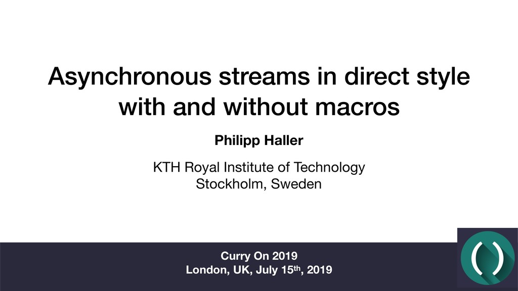Asynchronous streams in direct style with and w...