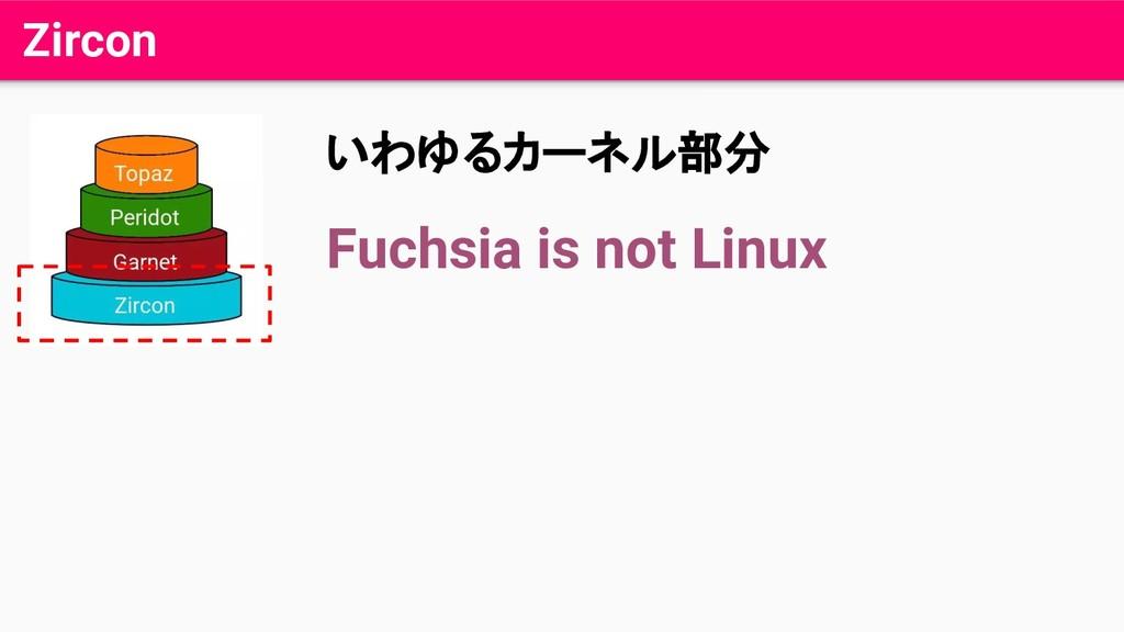 Zircon いわゆるカーネル部分 Fuchsia is not Linux