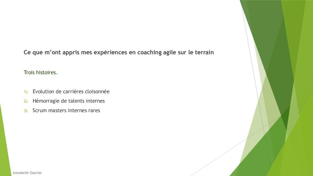 Ce que m'ont appris mes expériences en coaching...