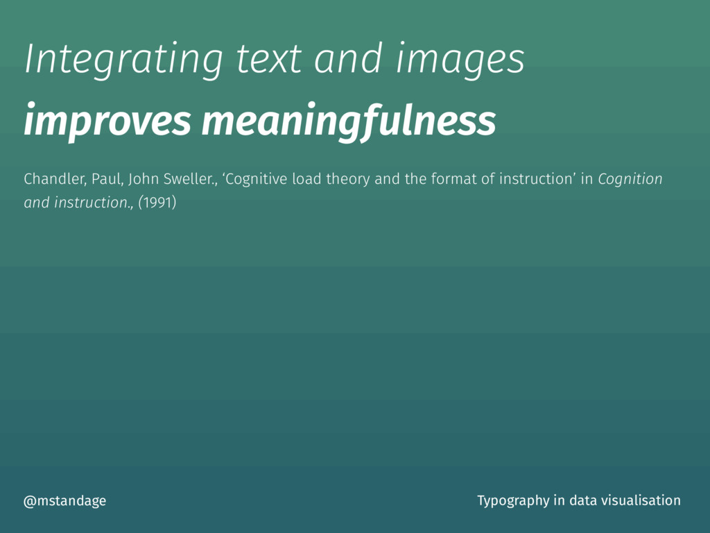 Integrating text and images improves meaningful...
