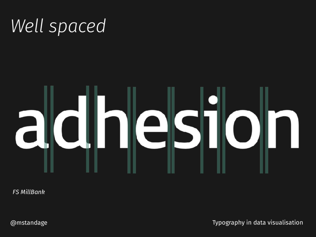 Well spaced @mstandage Typography in data visua...