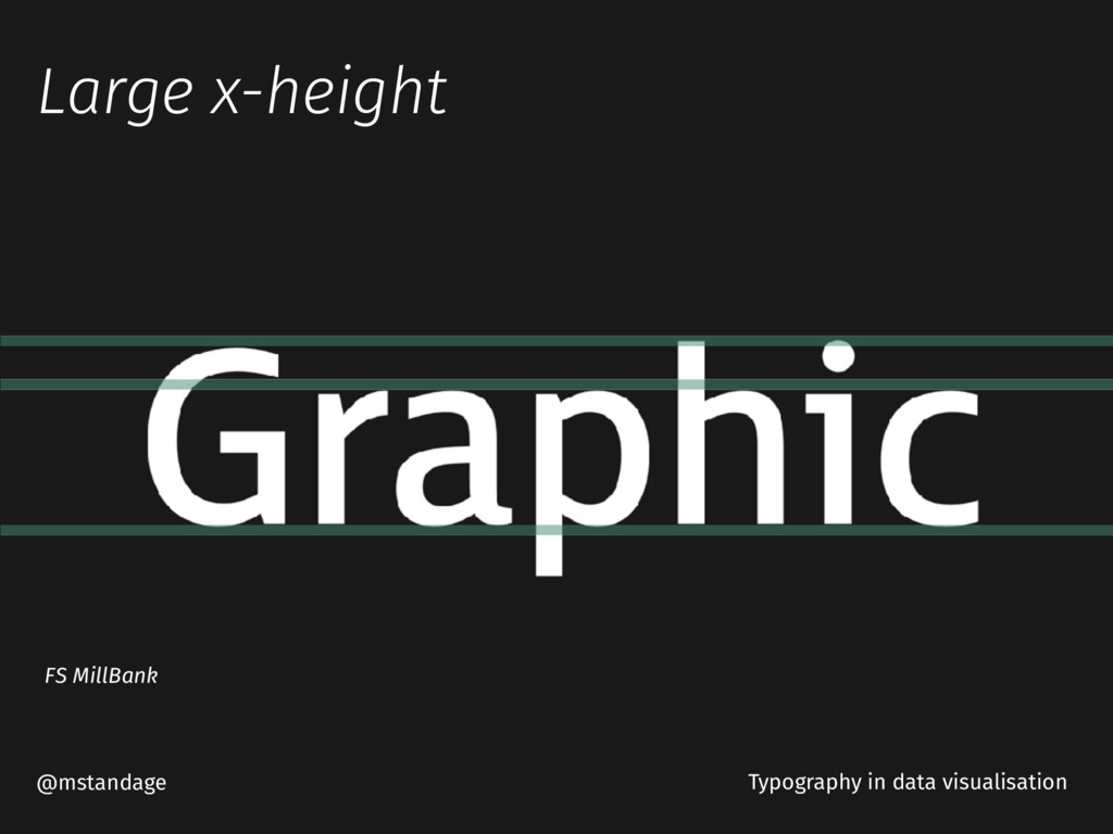 Large x-height @mstandage Typography in data vi...