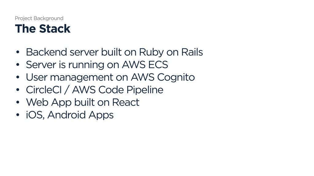 • Backend server built on Ruby on Rails • Serve...