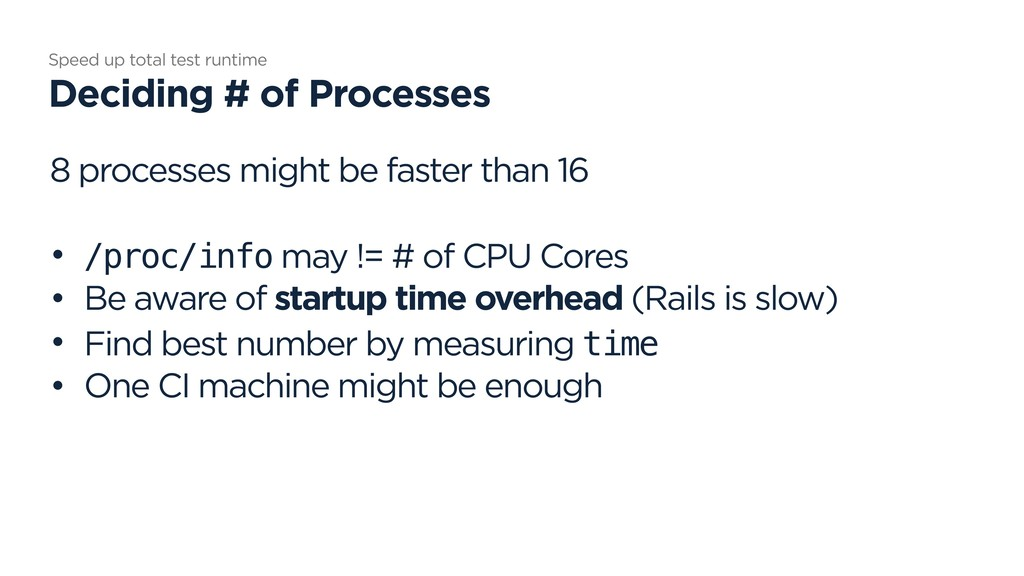8 processes might be faster than 16 • /proc/inf...