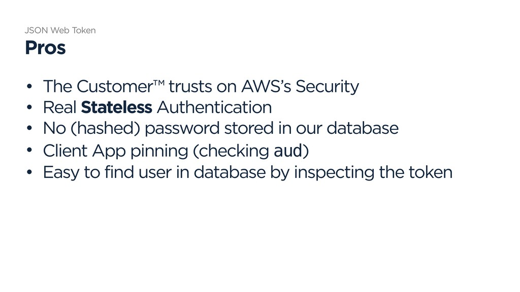 • The Customer™ trusts on AWS's Security • Real...