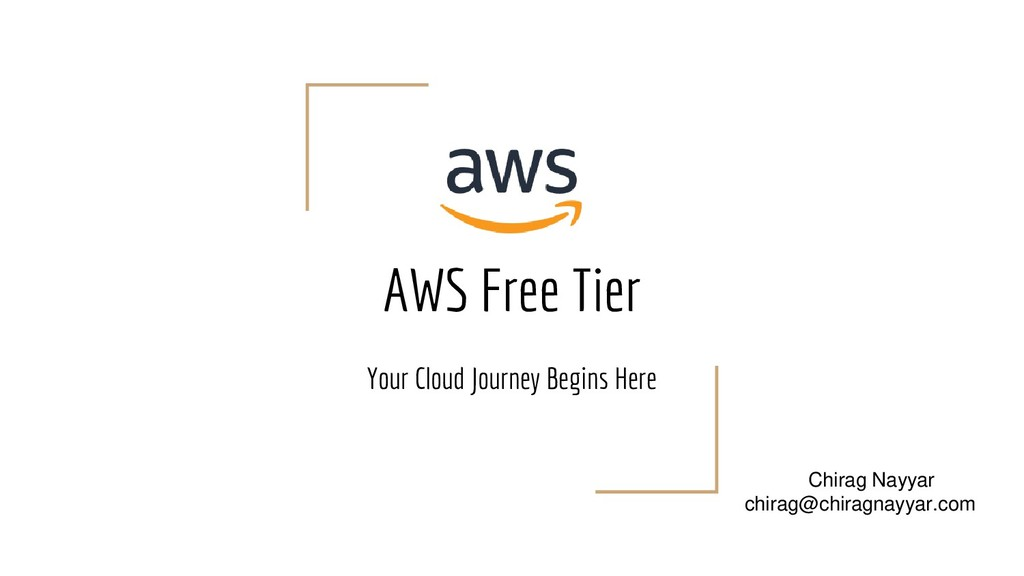 AWS Free Tier Your Cloud Journey Begins Here Ch...