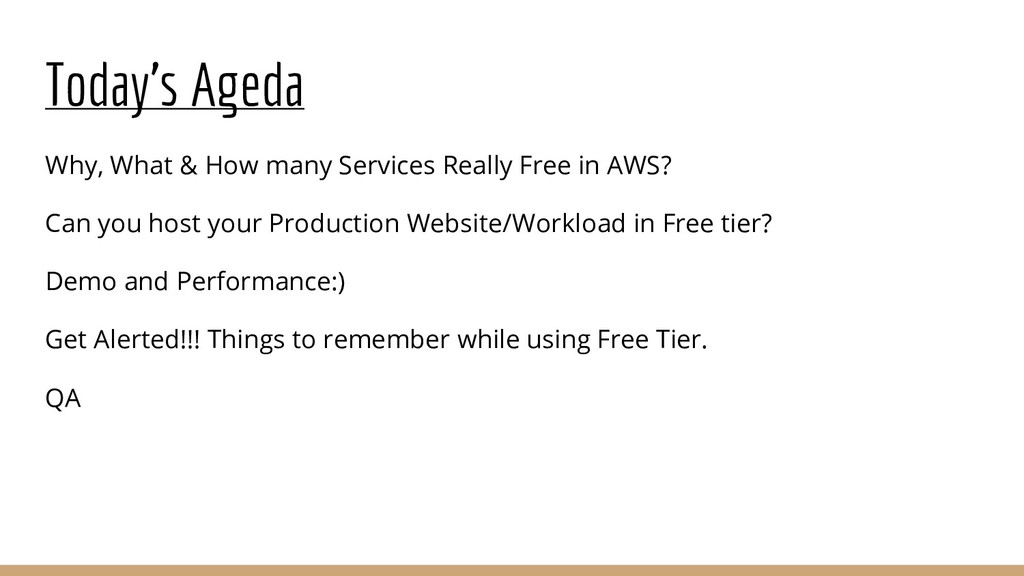 Today's Ageda Why, What & How many Services Rea...