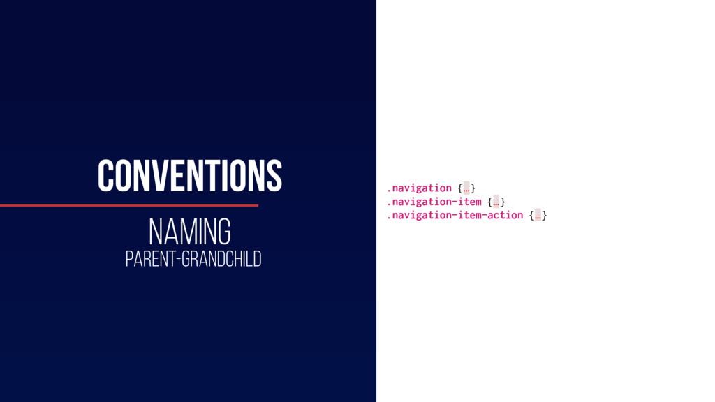 HTML .navigation {…} .navigation-item {…} .navi...
