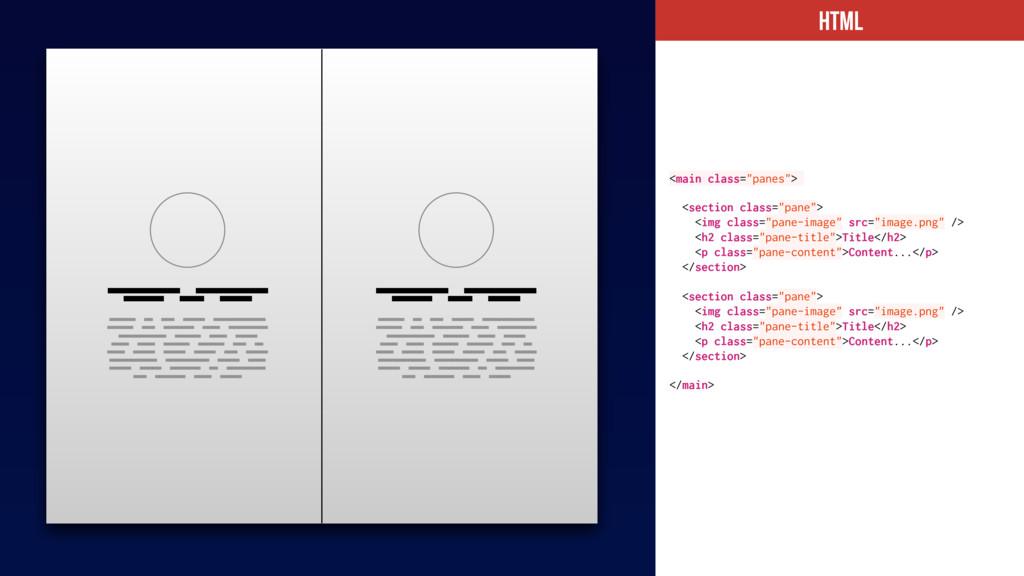 "HTML <main class=""panes""> <section class=""pane""..."