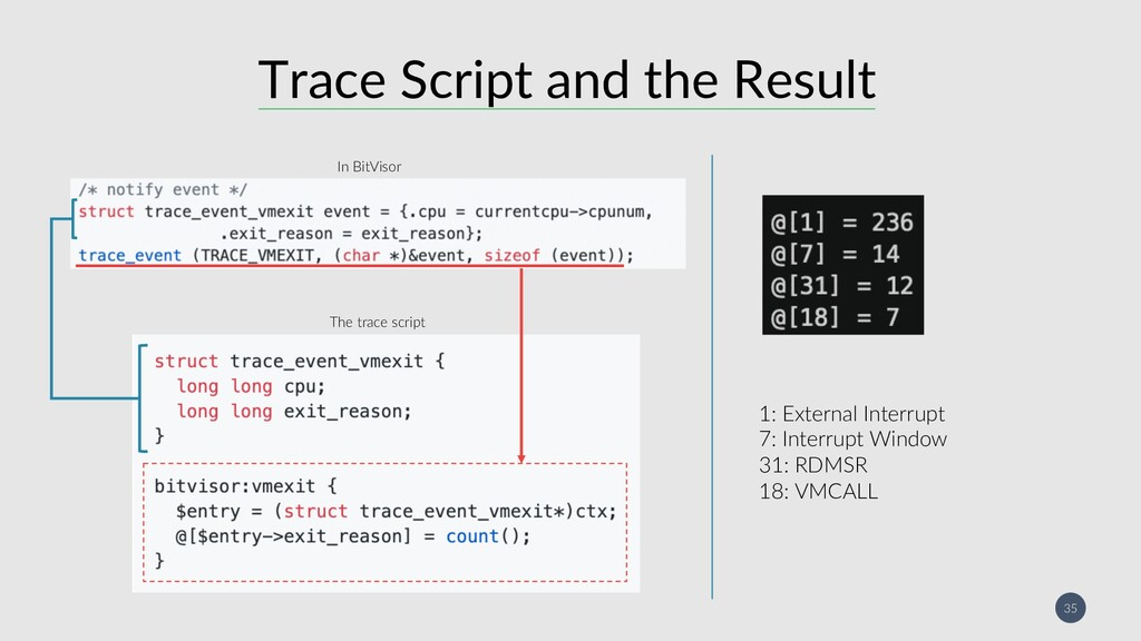 35 Trace Script and the Result 1: External Inte...