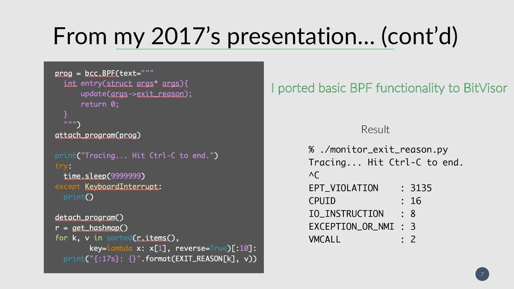 7 From my 2017's presentation… (cont'd) /&('...