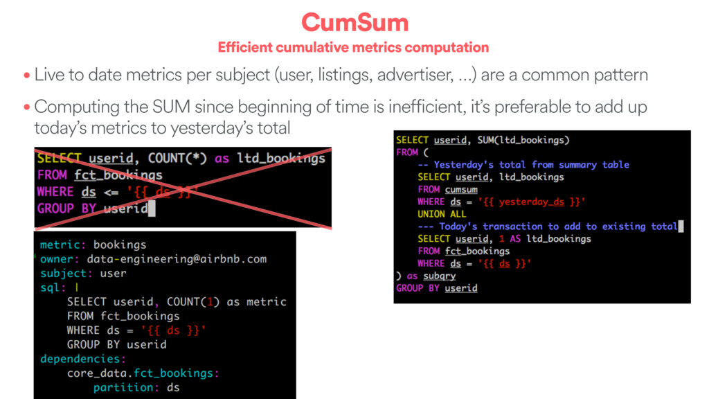 CumSum Efficient cumulative metrics computation...