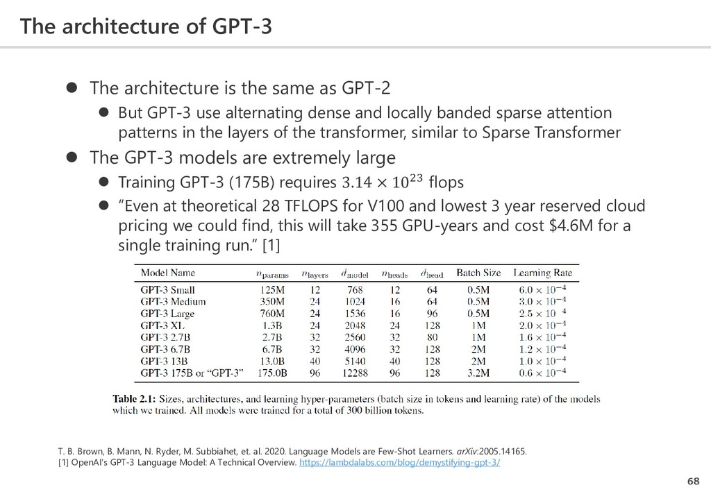  The architecture is the same as GPT-2  But G...