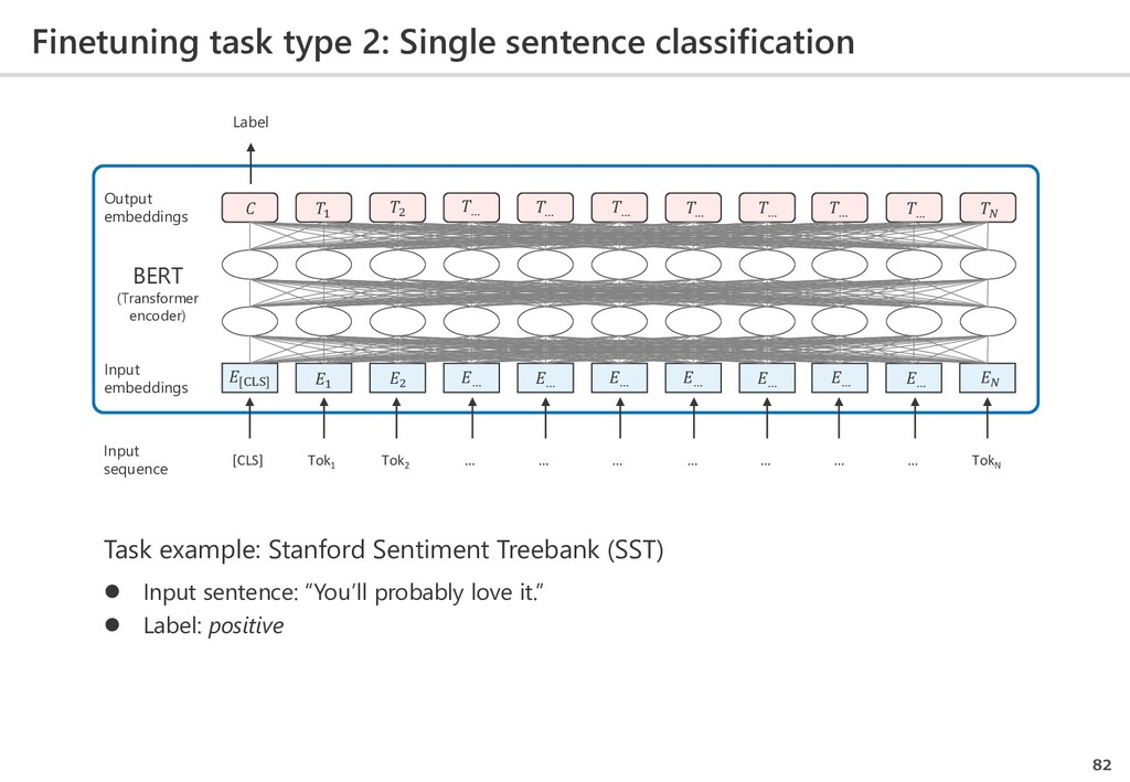 Finetuning task type 2: Single sentence classif...