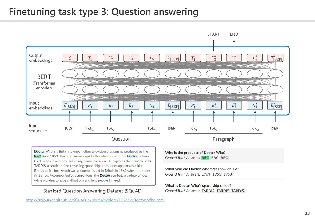 Finetuning task type 3: Question answering 83 [...