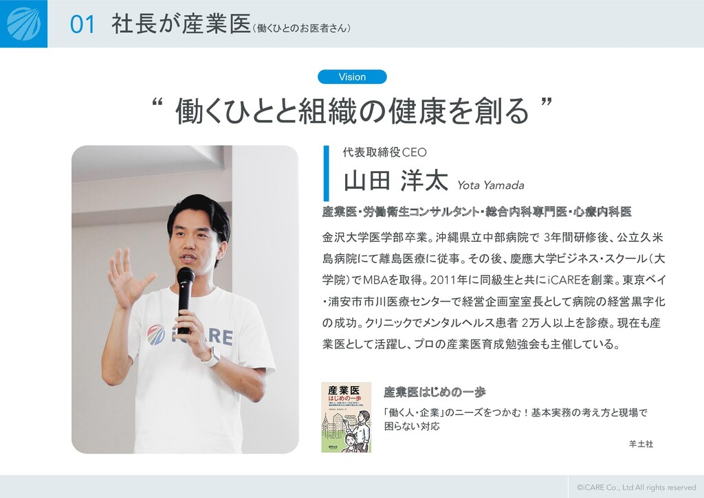 ©iCARE Co., Ltd All rights reserved 金沢大学医学部卒業。沖...