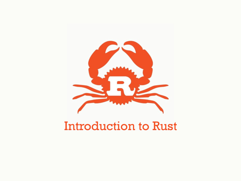 Introduction to Rust