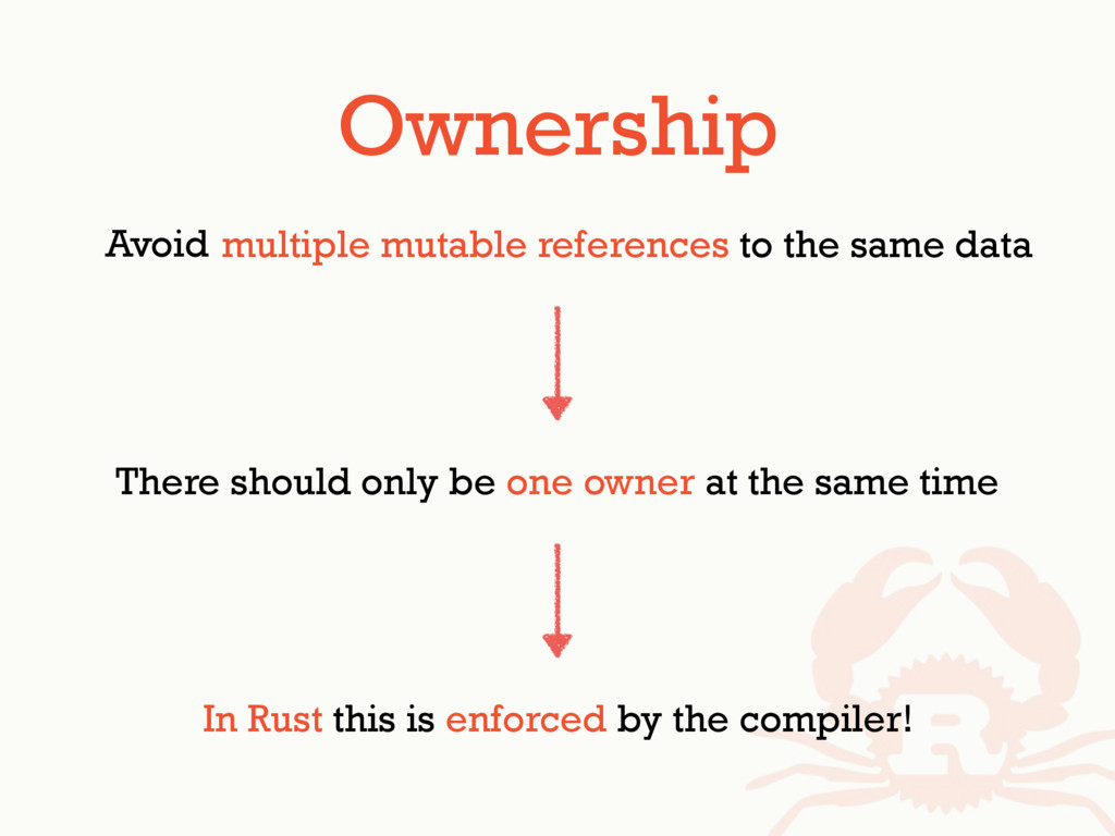 There's multiple mutable references to the same...