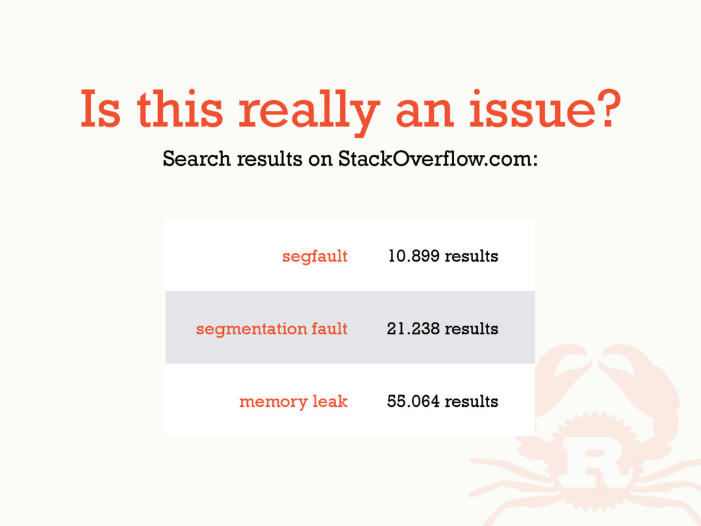 Is this really an issue? Search results on Stac...