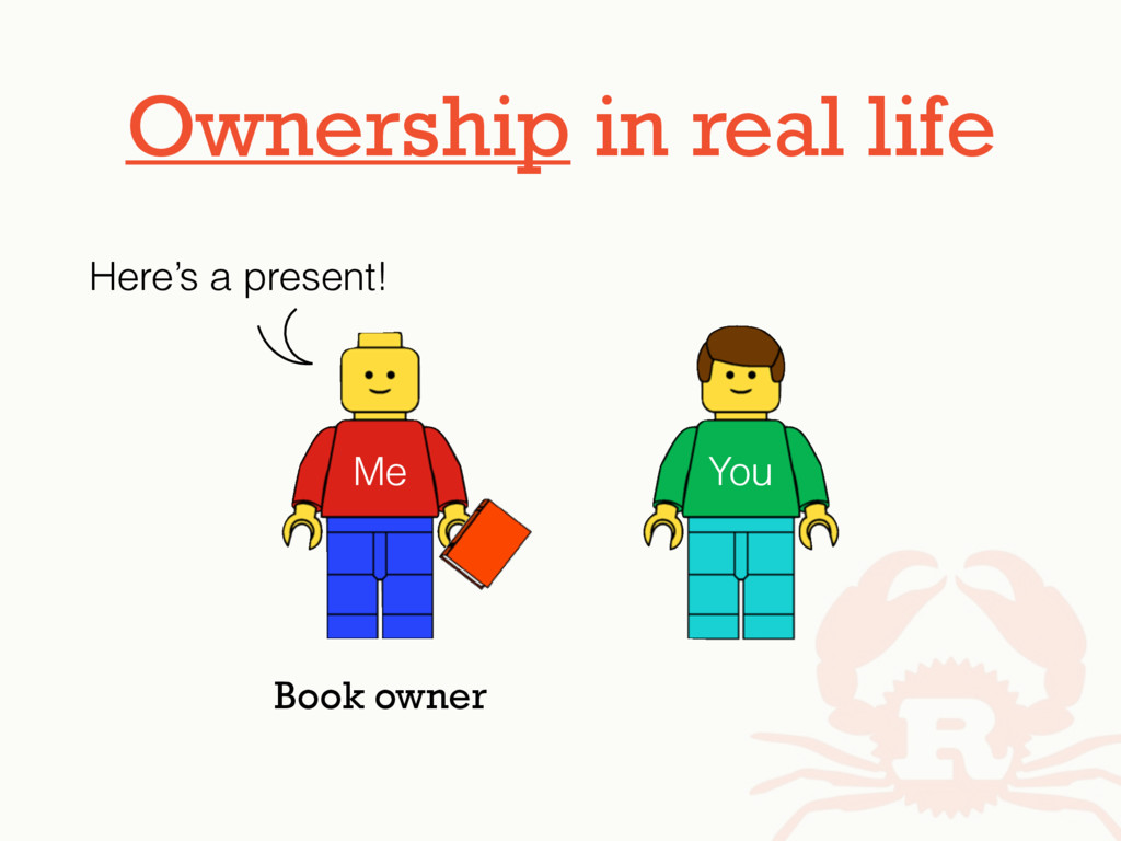 Ownership in real life Me You Here's a present!...