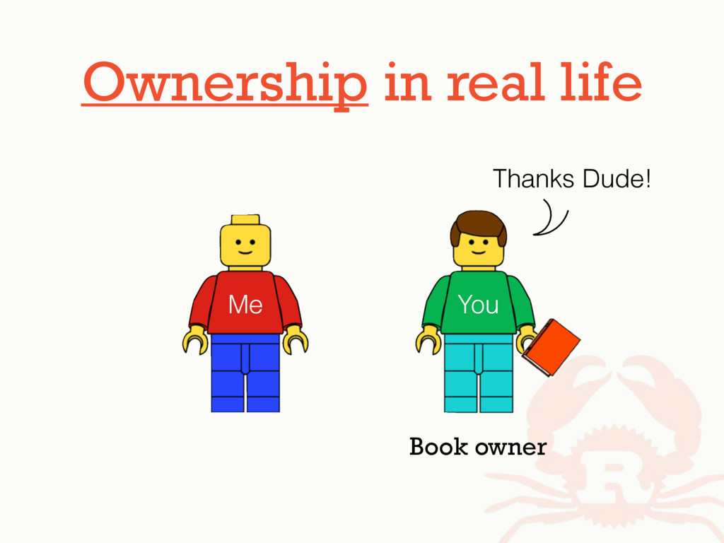 Ownership in real life Me You Thanks Dude! Book...
