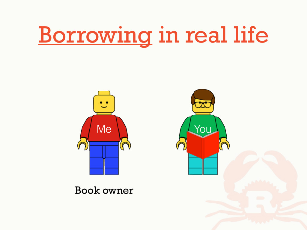 Borrowing in real life Me You Book owner