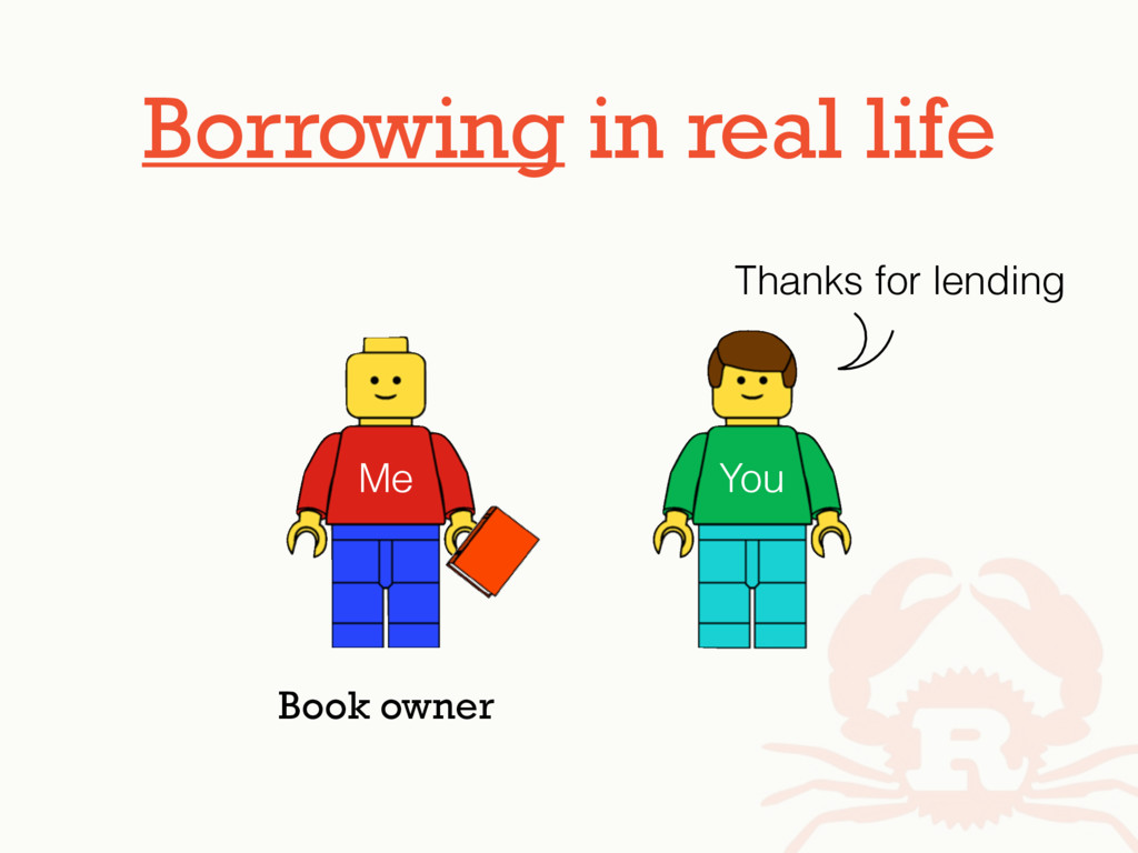Borrowing in real life Me You Thanks for lendin...