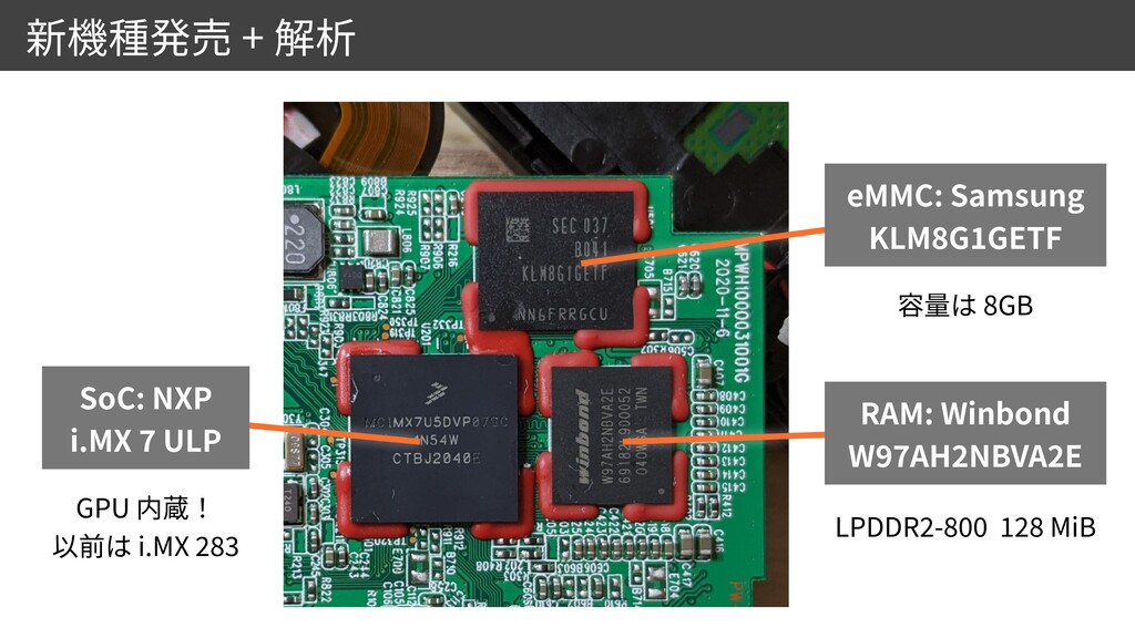 + GPU   i.MX 28 3 SoC: NXP  i.MX 7 ULP eMMC: S...