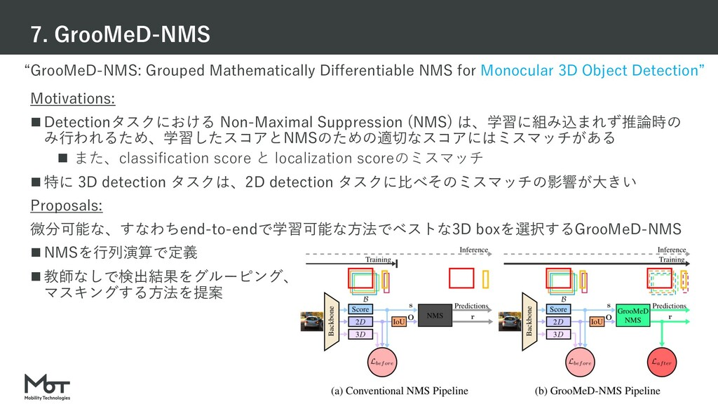 """Mobility Technologies Co., Ltd. """"GrooMeD-NMS: G..."""