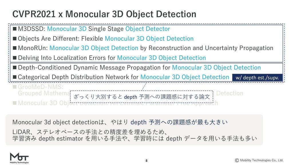 Mobility Technologies Co., Ltd. 8 n M3DSSD: Mon...