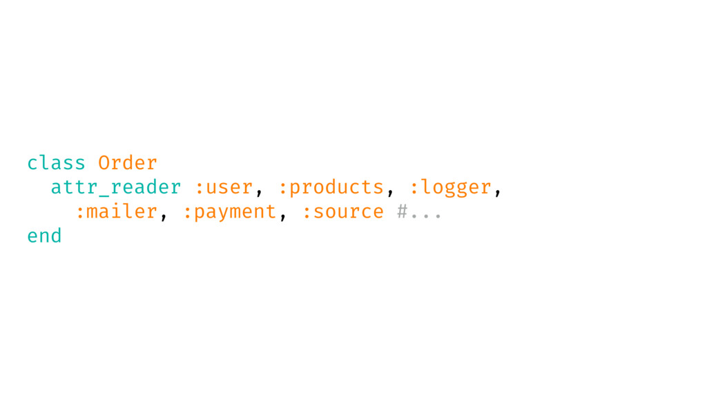 class Order attr_reader :user, :products, :logg...