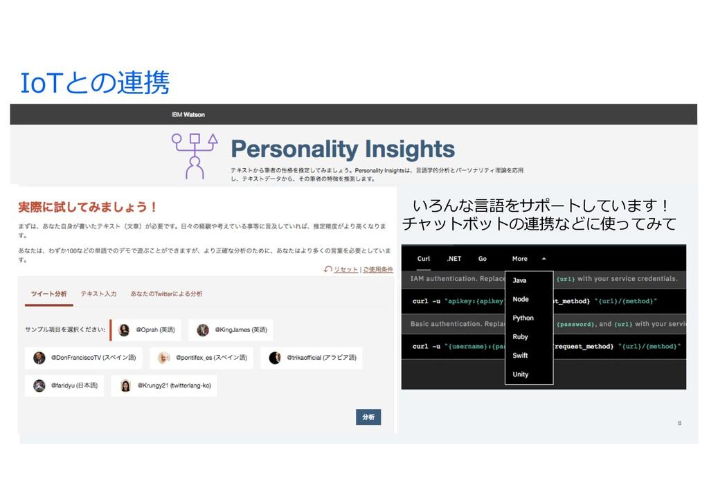 https://www.widsconference.org/ IoTとの連携 いろんな⾔語を...