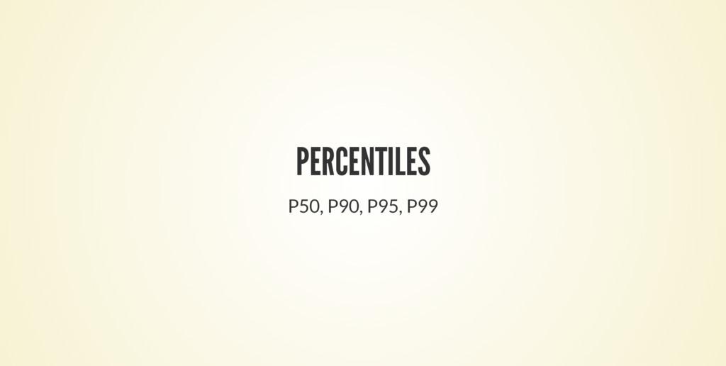 PERCENTILES P50, P90, P95, P99