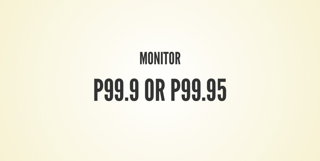 MONITOR P99.9 OR P99.95