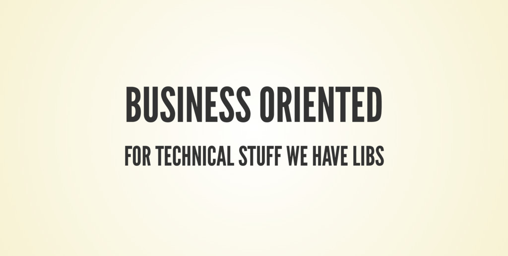 BUSINESS ORIENTED FOR TECHNICAL STUFF WE HAVE L...
