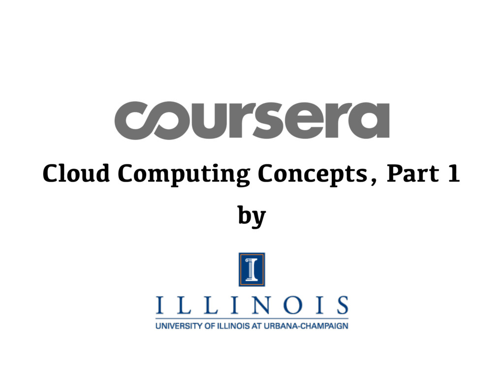 Cloud Computing Concepts, Part 1 by