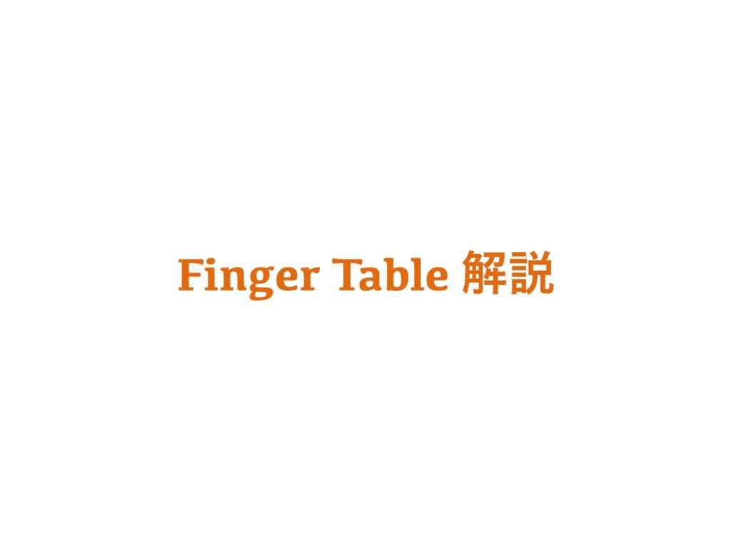 Finger Table ղઆ
