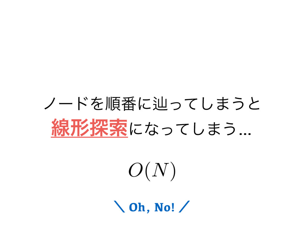 ϊʔυΛॱ൪ʹḷͬͯ͠·͏ͱ ઢܗ୳ࡧʹͳͬͯ͠·͏… ʘ Oh, No! ʗ