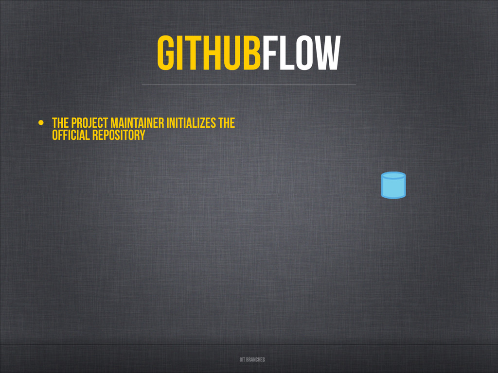 • The project maintainer initializes the offici...