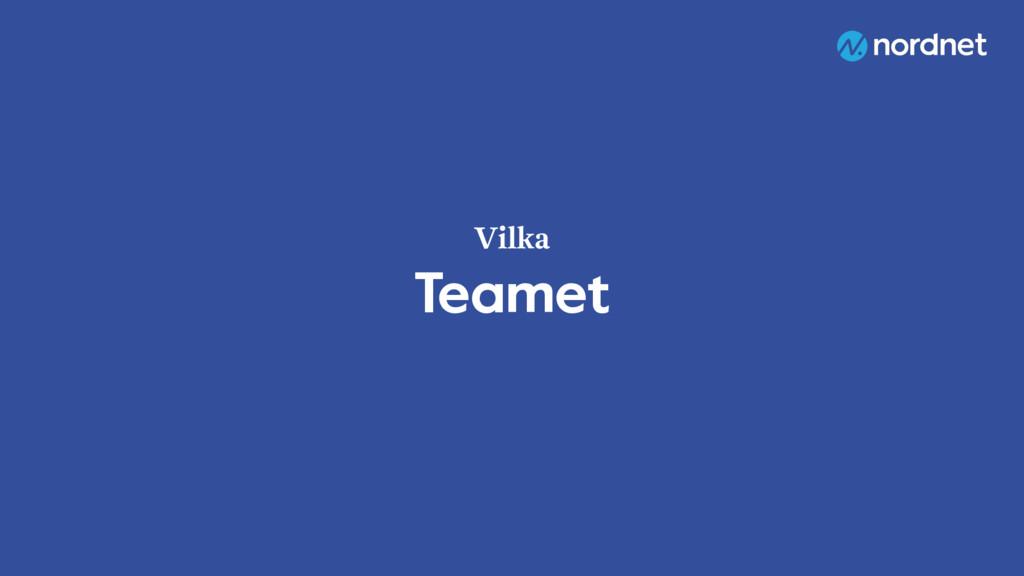 Teamet Vilka