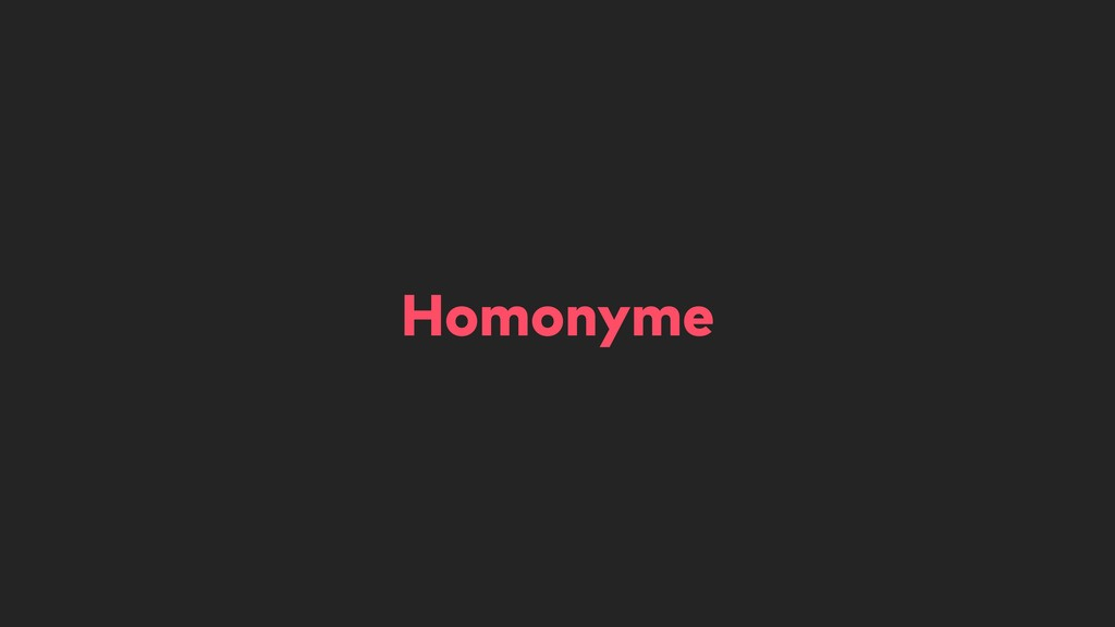 Homonyme