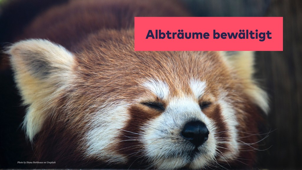 Albträume bewältigt Photo by Diana Parkhouse on...