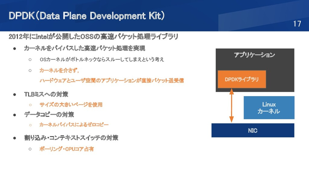 DPDK(Data Plane Development Kit) 17 2012年にInt...