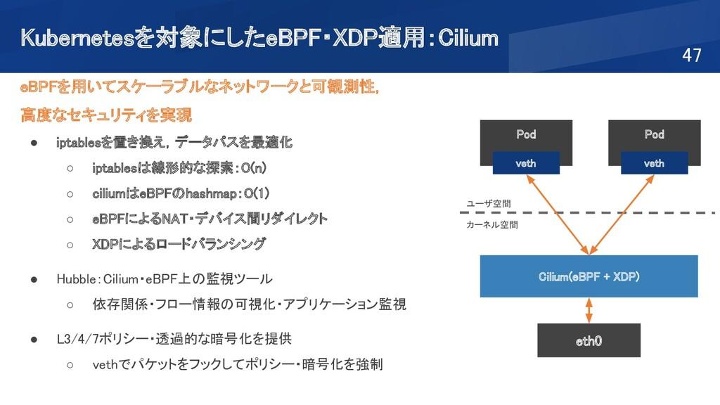 Kubernetesを対象にしたeBPF・XDP適用:Cilium 47 eBPFを用いて...