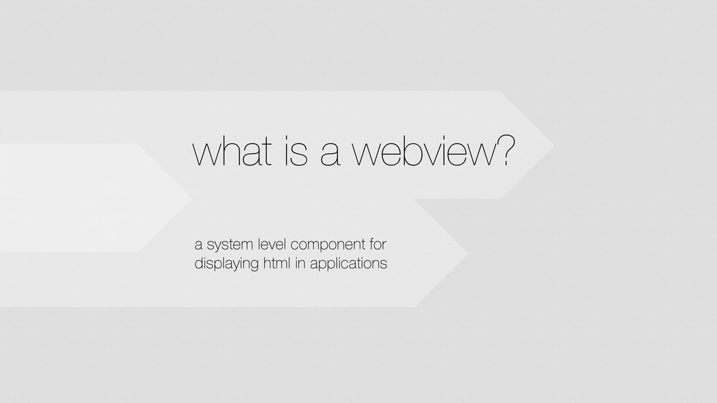 what is a webview? a system level component for...