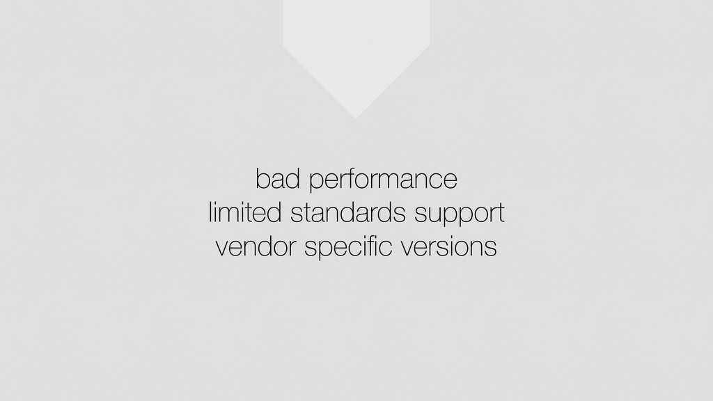 bad performance limited standards support vendo...