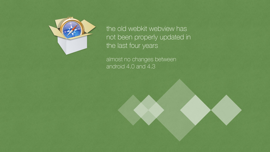 the old webkit webview has 
