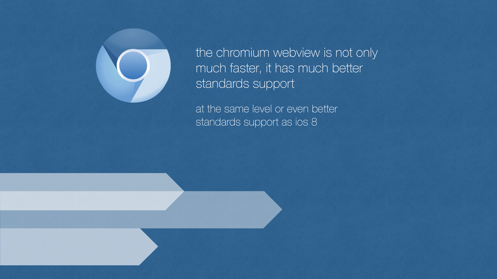 the chromium webview is not only much faster, i...