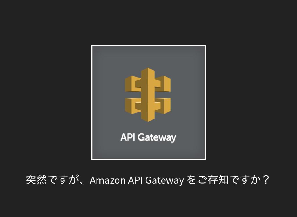 突然ですが、Amazon API Gateway をご存知ですか?