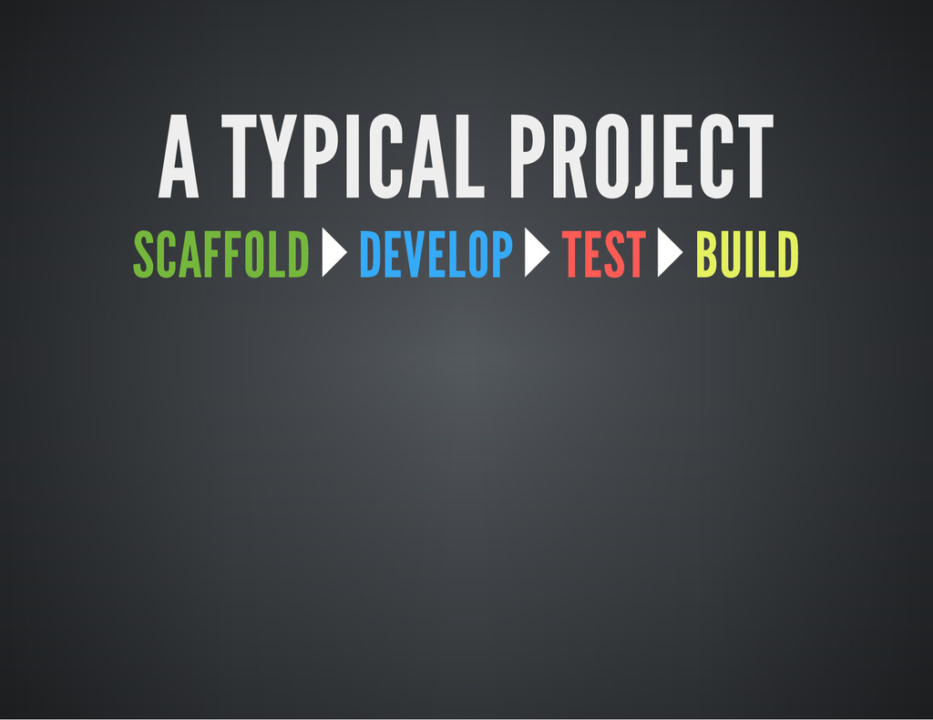 A TYPICAL PROJECT SCAFFOLD DEVELOP TEST BUILD